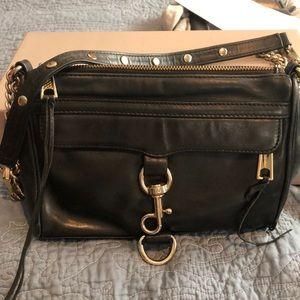 Used Rebecca Minkoff black leather Mini Mac  bag